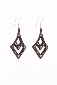 Curvy Bidri Earrings by Bidriwala, Contemporary Earring