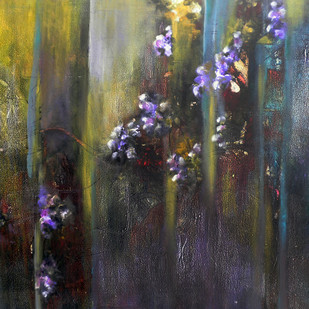 Eternal Spring V by Shan Re, Impressionism Painting, Acrylic on Canvas, Gray color
