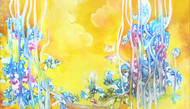 Dream Unfolding by Shan Re, Abstract Painting, Acrylic on Canvas, Beige color