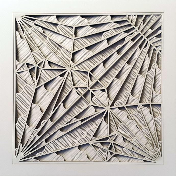 construction 031a paper cut relief sculpture by artist s ravi