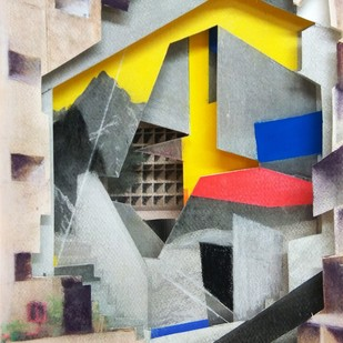 Untitled by Jignesh Panchal, Abstract Painting, Mixed Media on Paper, Gray color