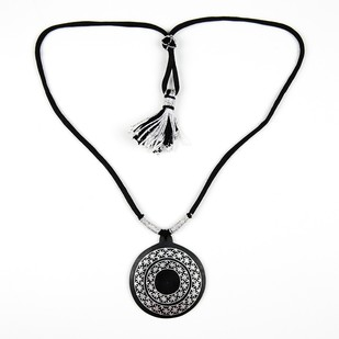 Bidri Pendant necklace 2 Fulzadi Circles Necklace By Bidriwala
