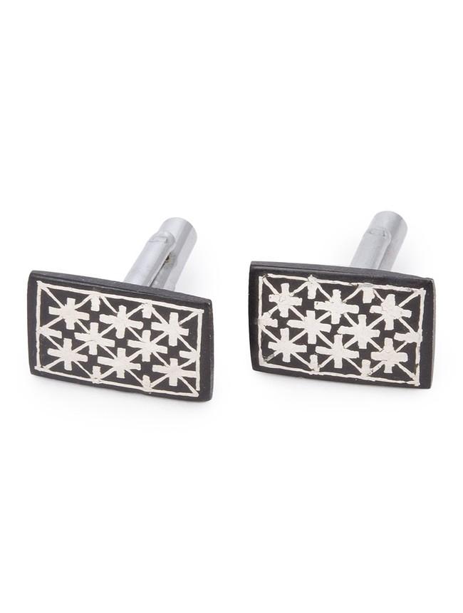 cufflinks fulzadi rectangle by Bidriwala, Contemporary Button/Cufflink