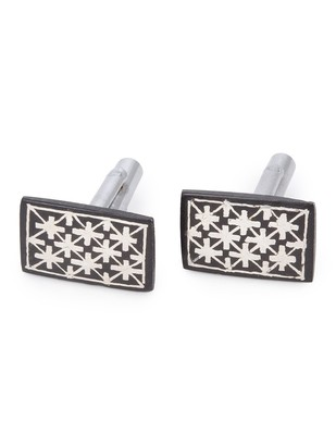 cufflinks fulzadi rectangle Button/Cufflink By Bidriwala