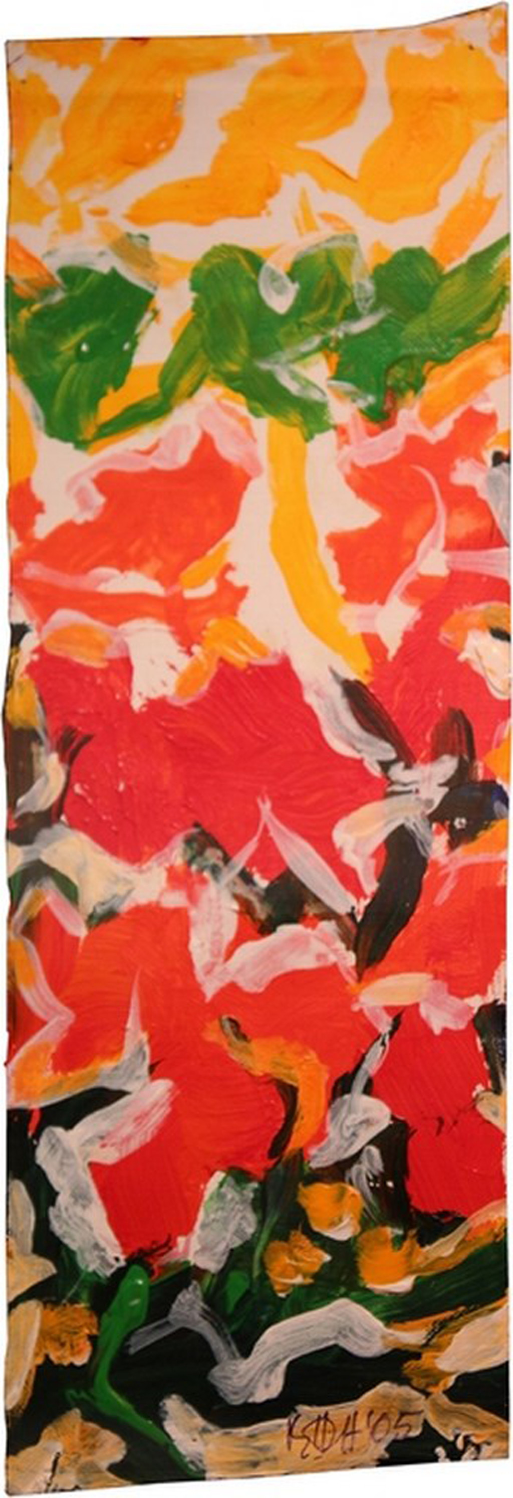 Phulvari by S H Raza, Abstract Painting, Acrylic on Canvas, Brown color