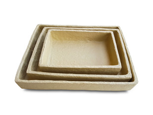 Paper Mache Tray (Set of 3) Bowl and Tray By De Kulture Works