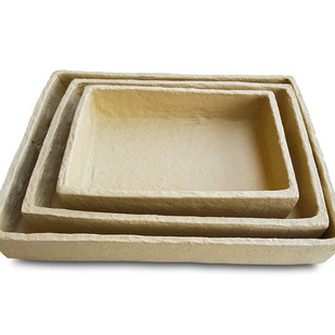 Paper Mache Tray (Set of 3) Tray By De Kulture Works