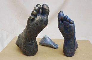 Together by krishna padiya, Conceptual Sculpture | 3D, Bronze, Gray color