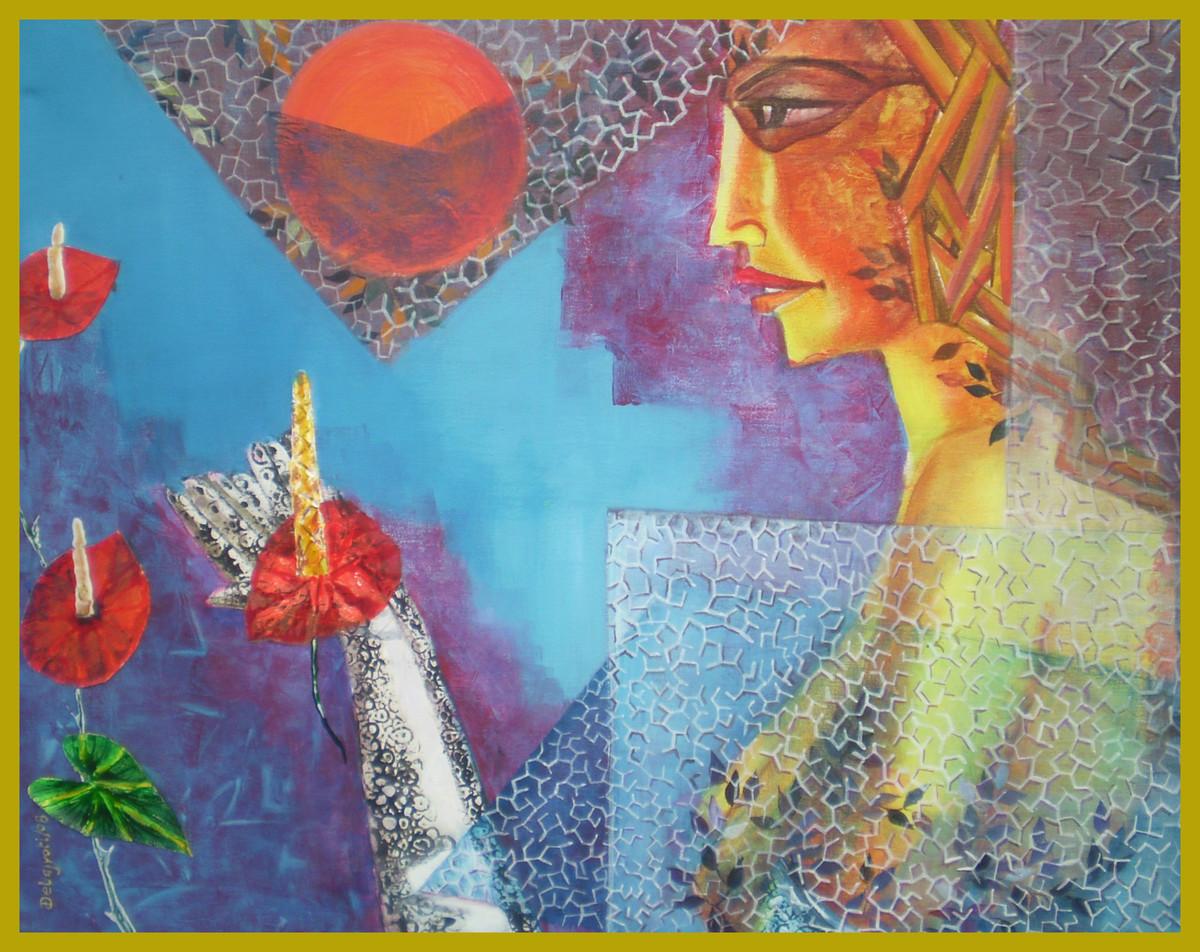 Worship Digital Print by Debajyoti Sarkar,Fantasy