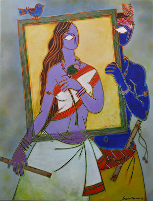 In a frame 1 Digital Print by Santanu Nandan Dinda,Traditional