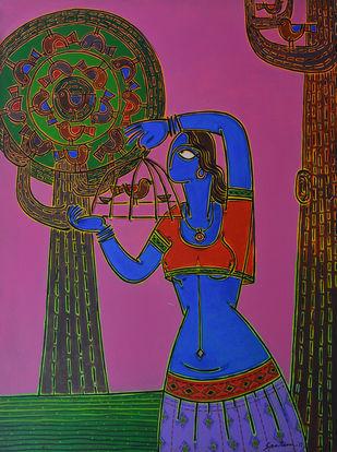 Let her free Digital Print by Santanu Nandan Dinda,Traditional