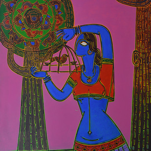 Let her free Digital Print by Santanu Nandan Dinda,Traditional