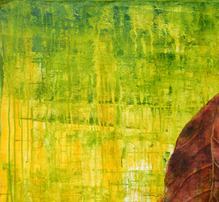 Abstract 47 by Santhosh CH, Abstract, Abstract Painting, Acrylic on Canvas, Yellow color