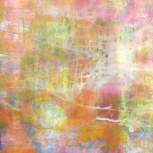 abstract 29 by Santhosh CH, Abstract Painting, Acrylic on Canvas, Orange color