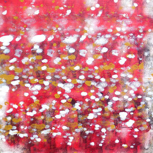 Abstract 16 by Santhosh CH, Abstract Painting, Acrylic on Canvas, Pink color