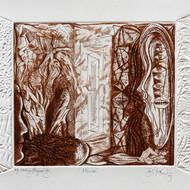 Hanuman kambli hmk002 mirror etching engraving   10 x 14 inches