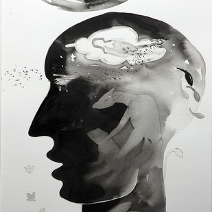 untitled by Milan Desai, Conceptual Drawing, Ink on Paper, Gray color