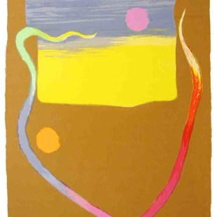 Untitled by Bhaskar Hande, Minimalism Printmaking, Serigraph on Paper, Brown color