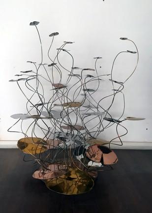 Lilly Pond - Large Artifact By Alex Davis