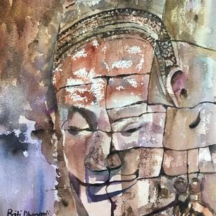 Smile of Angkor Digital Print by Priti Dhongadi,Impressionism