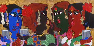 Metaphor of women Artwork By Devendra Achari