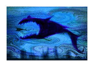 Metropolis 1 by Jayadev Biswal, Impressionism Digital Art, Digital Print on Archival Paper, Blue color
