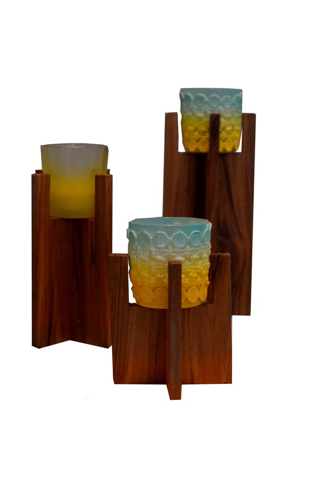 Pillared Tealight Holder T-Light and Votive Holder By Desi Jugaad
