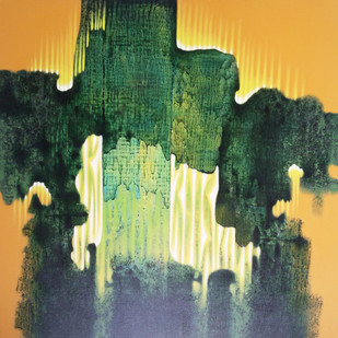 SK5 by sachin Kolhatkar, Abstract Painting, Acrylic on Canvas, Green color