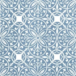 Chambray Tile IX Digital Print by Vision Studio,Decorative
