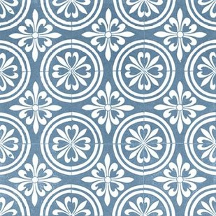 Chambray Tile II Digital Print by Vision Studio,Art Deco