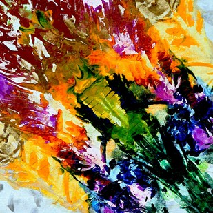 Bouquet Digital Print by Baljit Singh Chadha,Abstract