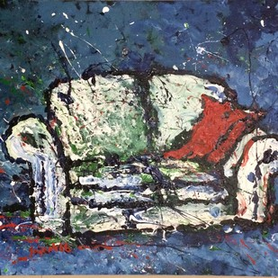 Sofa Digital Print by Saikat Chakraborty,Impressionism