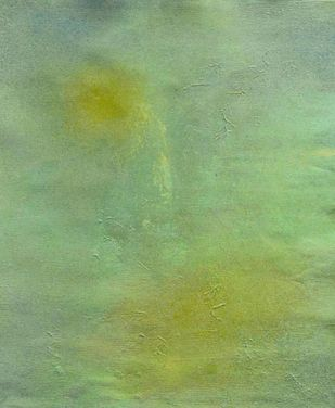 Meditative Calm 1 by Mahesh Sharma, Abstract Painting, Acrylic on Canvas, Green color