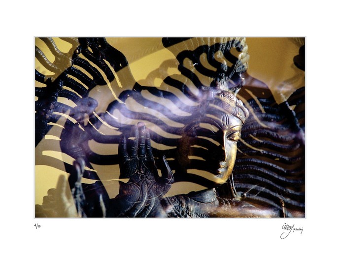 Shiva by pankaj agrawal, Image Photography, Digital Print on Canvas, White color