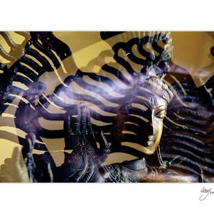 Shiva by pankaj agrawal, Image Photography, Digital Print on Canvas, White color