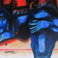 Diptendu bhowal 24x30 oil in canvas 2014 big bazar i