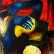 Diptendu bhowal 24x30 oil in canvas 2014 unsafe society iv
