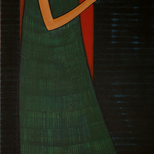 Journey With Life-1 by Dattatraya Thombare, Expressionism Painting, Acrylic on Canvas, Black color