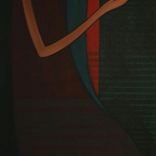 Journey With Life-4 by Dattatraya Thombare, Expressionism Painting, Acrylic on Canvas, Black color