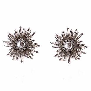 SUPERNOVA RHODIUM Earring By BEGADA