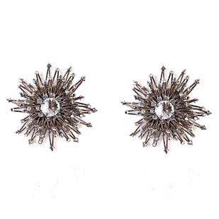 SUPERNOVA RHODIUM by BEGADA, Art Jewellery Earring