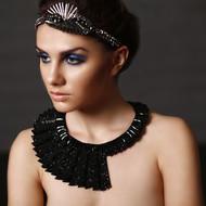 JET SIGNATURE REVOLVING NECKPIECE by BEGADA, Art Jewellery Necklace