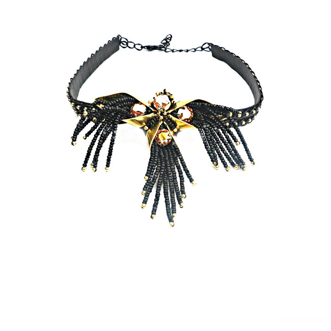 CHIC CHOKER GOLD by BEGADA, Contemporary Necklace