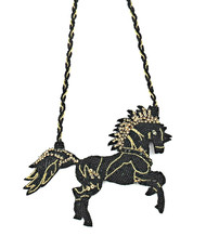 EMBELLISHED JET HORSE by BEGADA, Contemporary Necklace