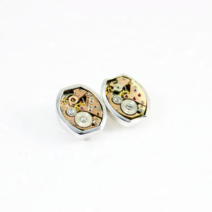 Gentlemen's cuff links #002 by Absynthe Design, Art Jewellery Button/Cufflink