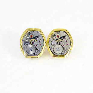 Gentlemen's cuff links #003 Button/Cufflink By Absynthe Design