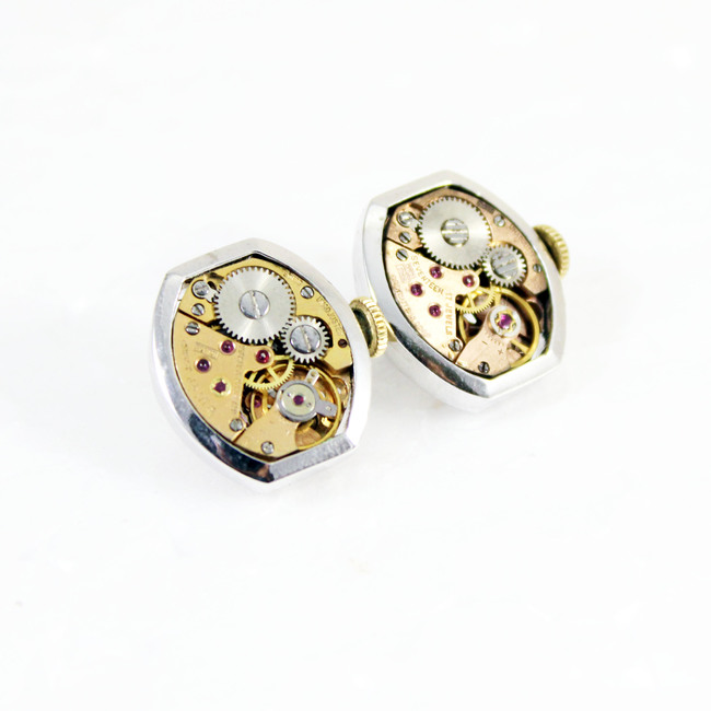 Gentlemen's cuff links #004 by Absynthe Design, Art Jewellery Accessories