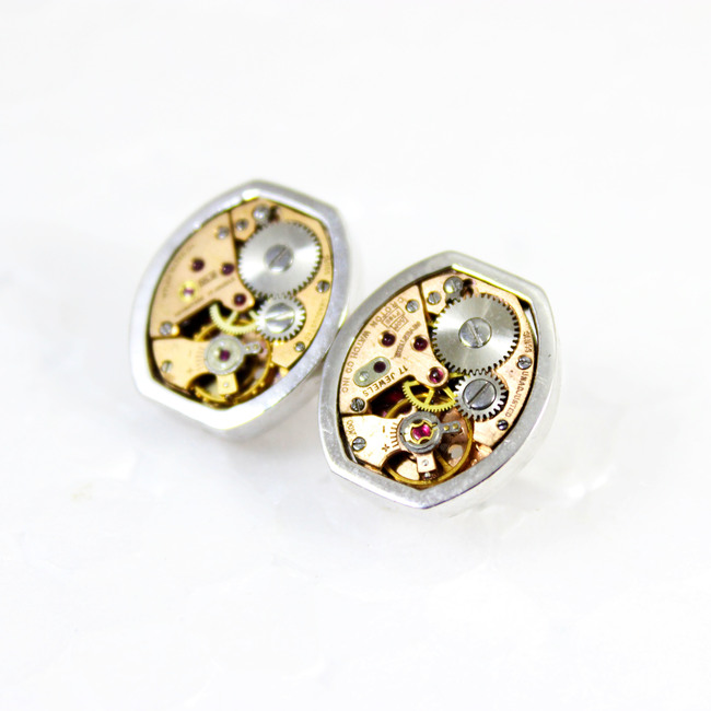 Gentlemen's cuff links #005 by Absynthe Design, Art Jewellery Button/Cufflink