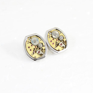 Gentlemen's cuff links #006 by Absynthe Design, Art Jewellery Button/Cufflink