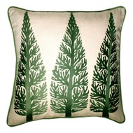 KASHMIR AUTUMN TREES by Monsoon and Beyond, Contemporary Cushion Cover, fabric, Beige color